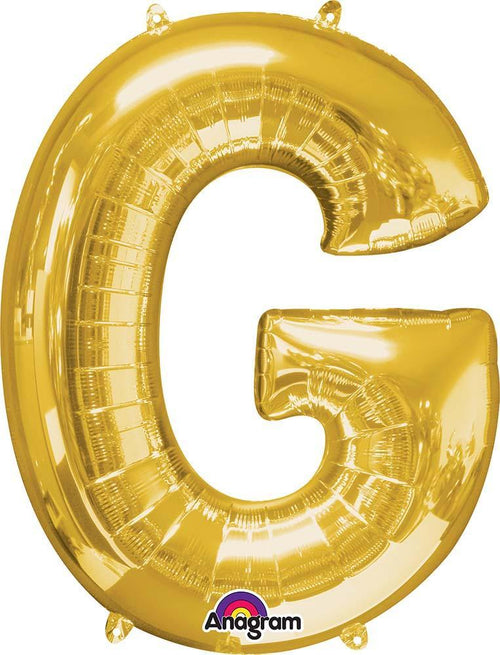 "Mayflower Balloons Gold ""G"" Letter Balloon 32"""