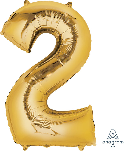Mayflower Balloons Gold Number 2 Balloon 33in