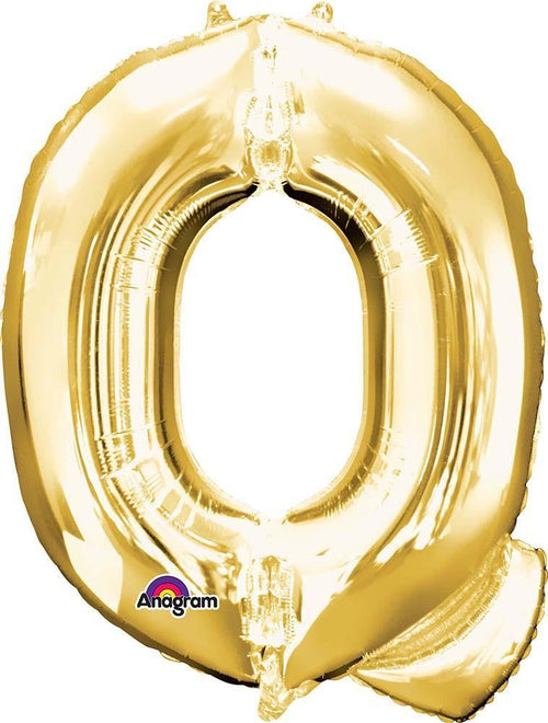 "Mayflower Balloons Gold ""Q"" Letter Balloon 32"""