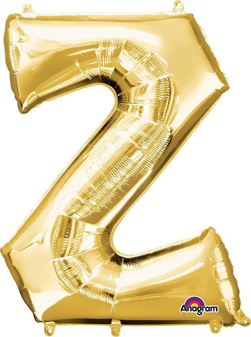 "Mayflower Balloons Gold ""Z"" Letter Balloon 33"""