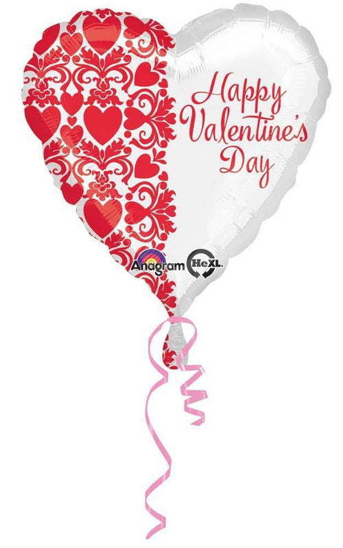 MAYFLOWER Balloons Happy Valentine's Day Red Heart Pattern Balloon 18""