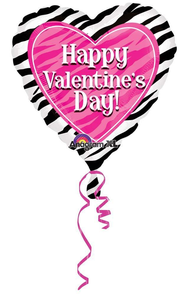 MAYFLOWER Balloons Happy Valentine's Day Zebra Balloon 18""