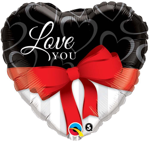 MAYFLOWER Balloons Love You Red Ribbon Balloon 18""