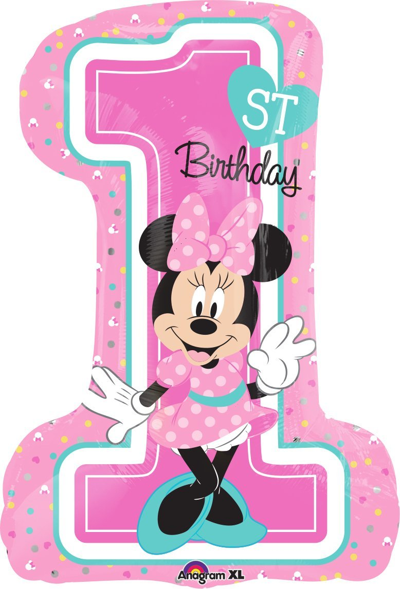 Mayflower Balloons Minnie Mouse 1st Birthday Supershape Balloon