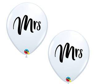 "Mayflower Balloons Mrs. White Latex 11"" Balloon"