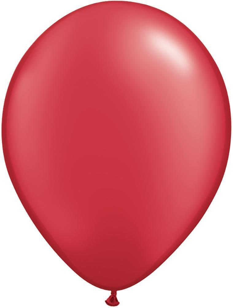 "Mayflower Balloons Pearlized Ruby Red 11"" Latex Balloon"
