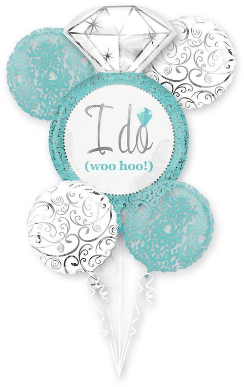 Mayflower Balloons Robins Egg Blue Wedding Balloon Bouquet