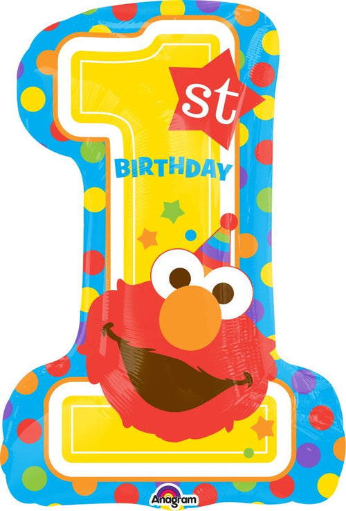 Mayflower Balloons Sesame Street 1st Birthday Jumbo Balloon 28""