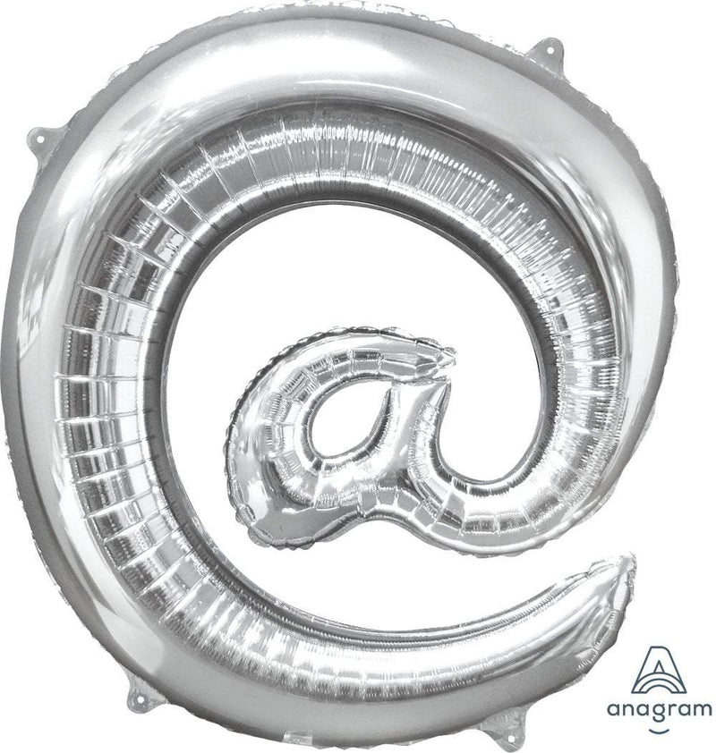 "Mayflower Balloons Silver ""@"" Letter Balloon 33"""