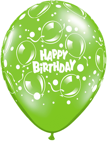"Mayflower Balloons Sparkling Birthday 11"" (Assorted Colors) Latex Balloon"
