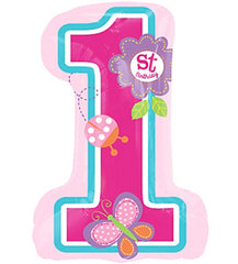 Mayflower Balloons Sweet 1st Birthday Girl Balloon 28""