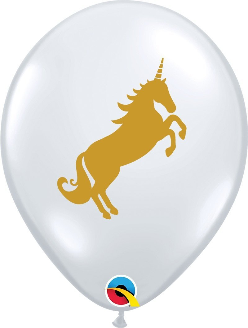 "Mayflower Balloons Unicorn 11"" Clear Latex Balloon"