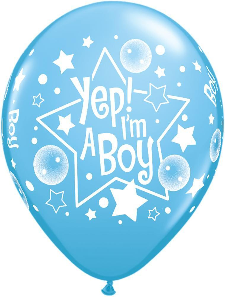 Mayflower Balloons Yep I'm a Boy Latex Balloon