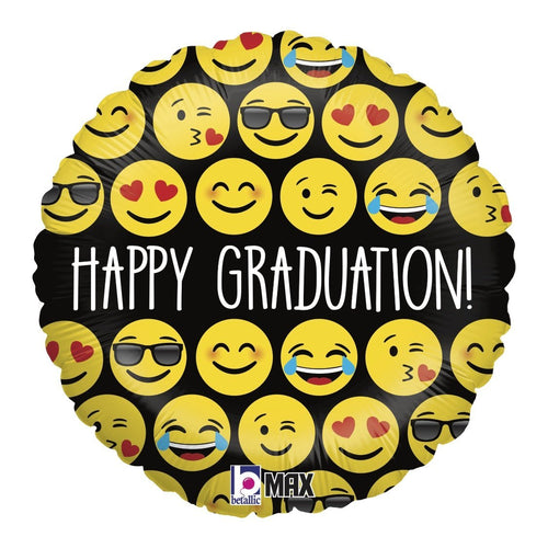Mayflower Distributors Balloons Emoji Graduation Mylar Balloon 18""