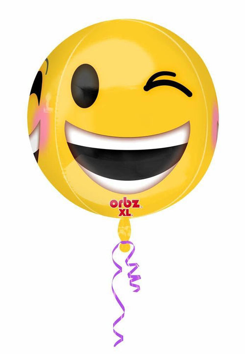 Mayflower Distributors Balloons Emoji Winking Orbz Balloon