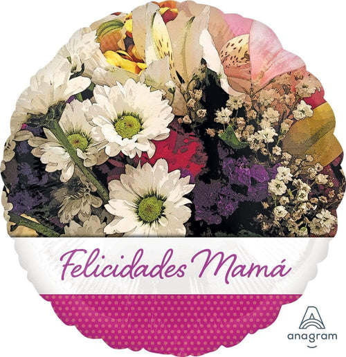 Mayflower Distributors Balloons Felicidades Mama Flowers Balloon 18""