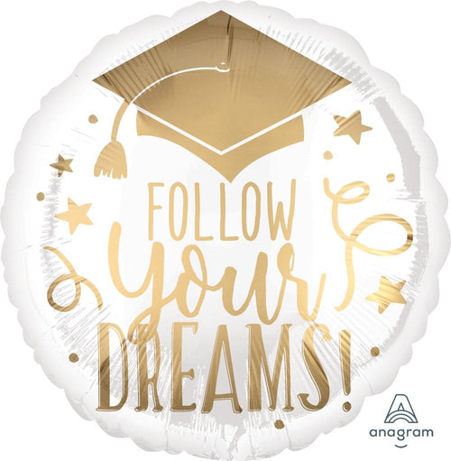 Mayflower Distributors Balloons Follow Your Dreams Graduation Mylar Balloon 18""