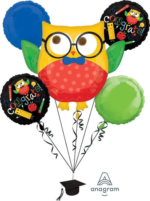 Mayflower Distributors Balloons Hip Hip Hooray Graduation Balloon Bouquet