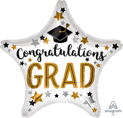 Mayflower Distributors Balloons Jumbo Congrats Grad Star Balloon 28""