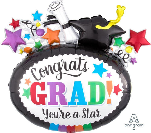 Mayflower Distributors Balloons Jumbo Grad You're A Star Balloon 29""