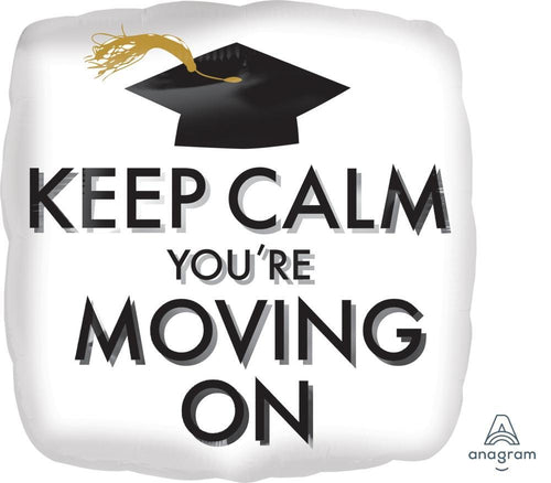 Mayflower Distributors Balloons Keep Calm Moving On Graduation Balloon 18""