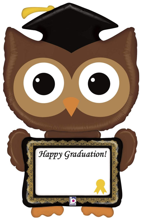 Mayflower Distributors Balloons Remarkable Owl Happy Graduation Jumbo Balloon 46""