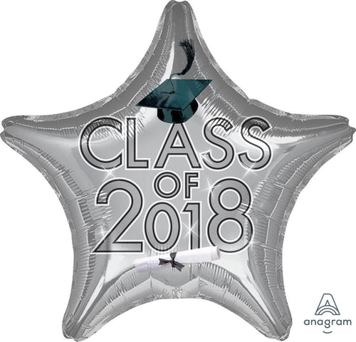 Mayflower Distributors Balloons Silver Class of 2018 Star Balloon