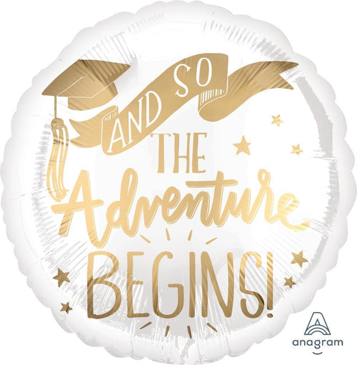 Mayflower Distributors Balloons The Adventure Begins Graduation Balloon 18""