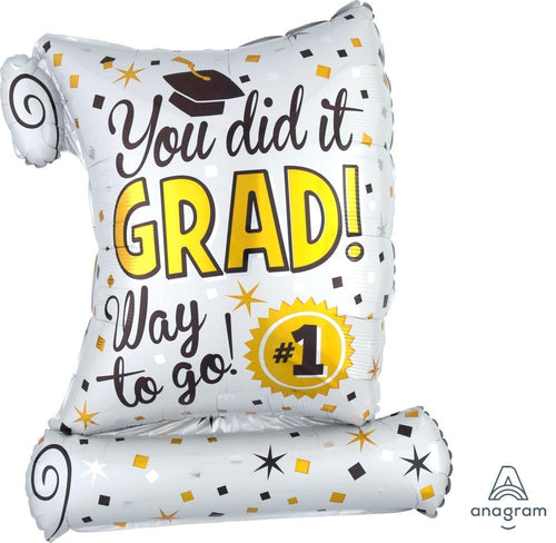 Mayflower Distributors balloons You Did It Diploma Jumbo Balloon 26""