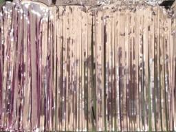 PARTY DECO DECORATION Pink Metallic Fringe 10ft x 15in