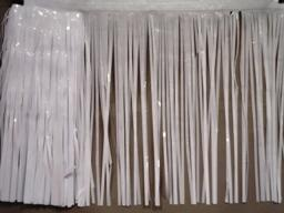PARTY DECO DECORATION White Vinyl Metallic Fringe 10ft x 15in