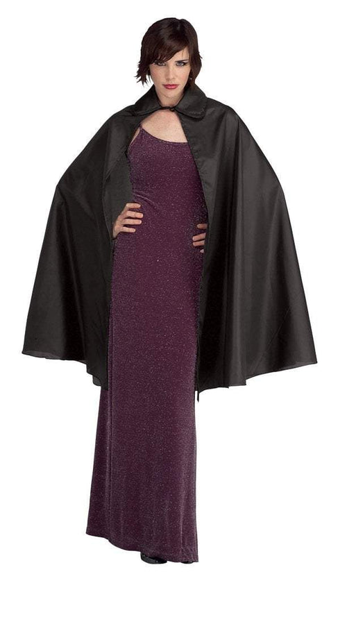 "Rubies Costume Accessories Adult 45"" Black Taffeta Cape"