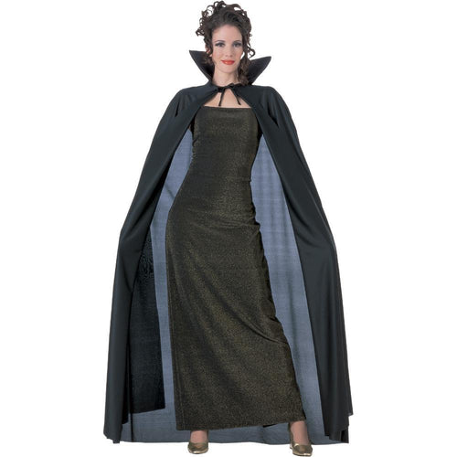 Rubies Costume Accessories Deluxe Adult Black Full Length Cape
