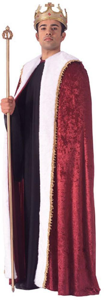 Rubies Costume Accessories Deluxe King's Burgundy Velvet Robe