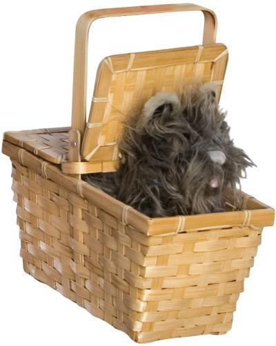 Rubies Costume Accessories Deluxe Toto In A Basket - Wizard of Oz