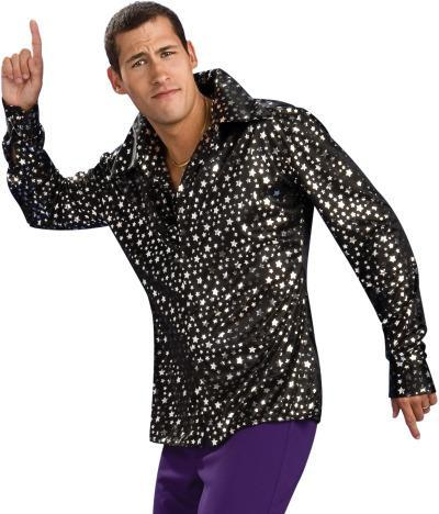 Rubies Costumes Adult Black & Silver Disco Shirt