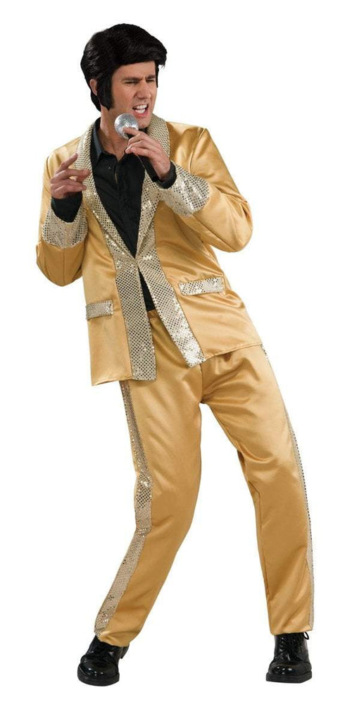 Rubies Costumes Adult Deluxe Elvis Gold Satin (Suit) Costume