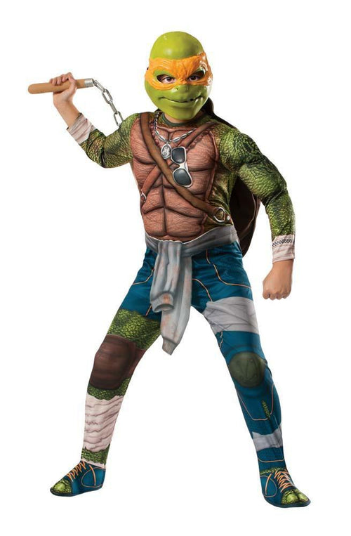 Rubies Costumes Boys Deluxe Michelangelo Costume - Teenage Mutant Ninja Turtles