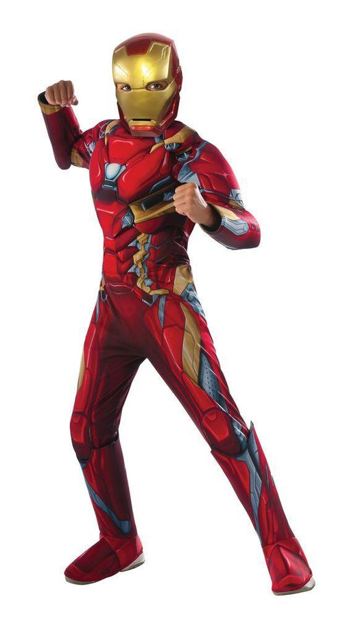 Rubies Costumes Boys Iron Man Deluxe Costume