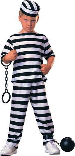 Rubies Costumes COLOR / LARGE Boys Prisoner Costume