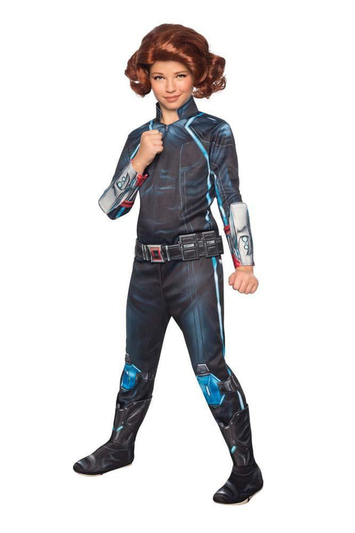Rubies Costumes Girls Deluxe Black Widow Costume - Avengers 2