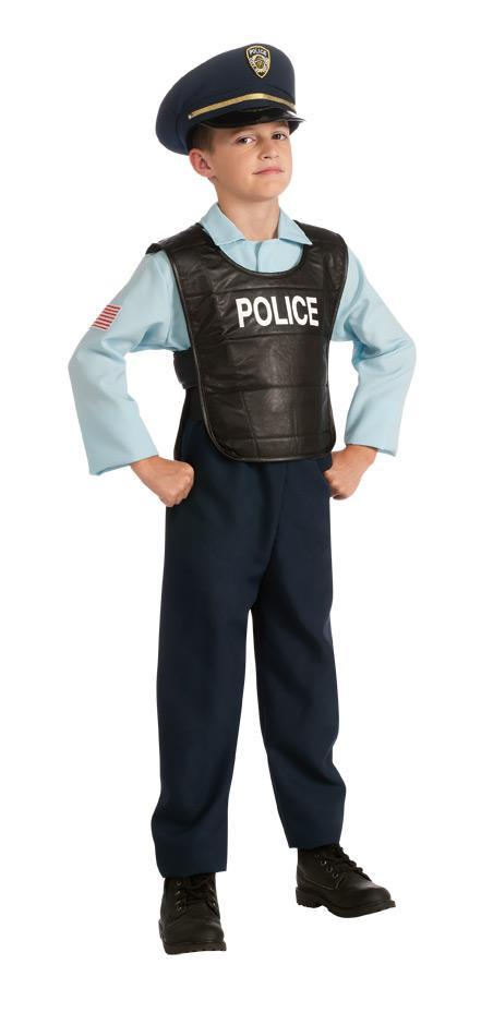 Rubies Costumes LARGE Boys Deluxe Policeman Costume