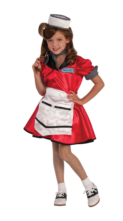 Rubies Costumes LARGE Girls 50s Diner Girl Costume