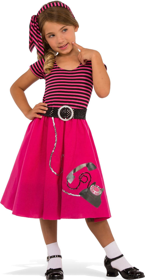 Rubies Costumes LARGE Girls 50s Girl Costume