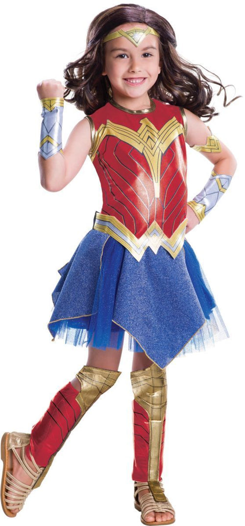 Rubies Costumes LARGE Girls Deluxe Wonder Woman Costume - Justice League