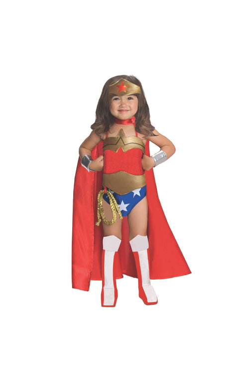 Rubies Costumes LARGE Toddler Girls Deluxe Wonder Woman Costume