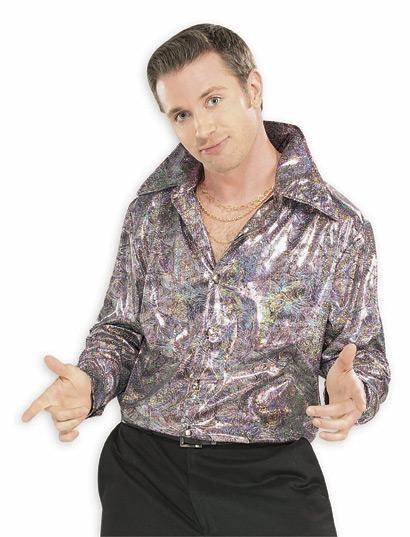 Rubies Costumes Mens Silver Disco Shirt