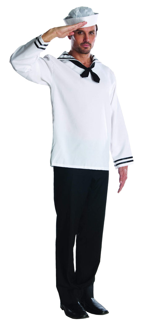 Rubies Costumes STANDARD Men's Sailor White Jacket Costume