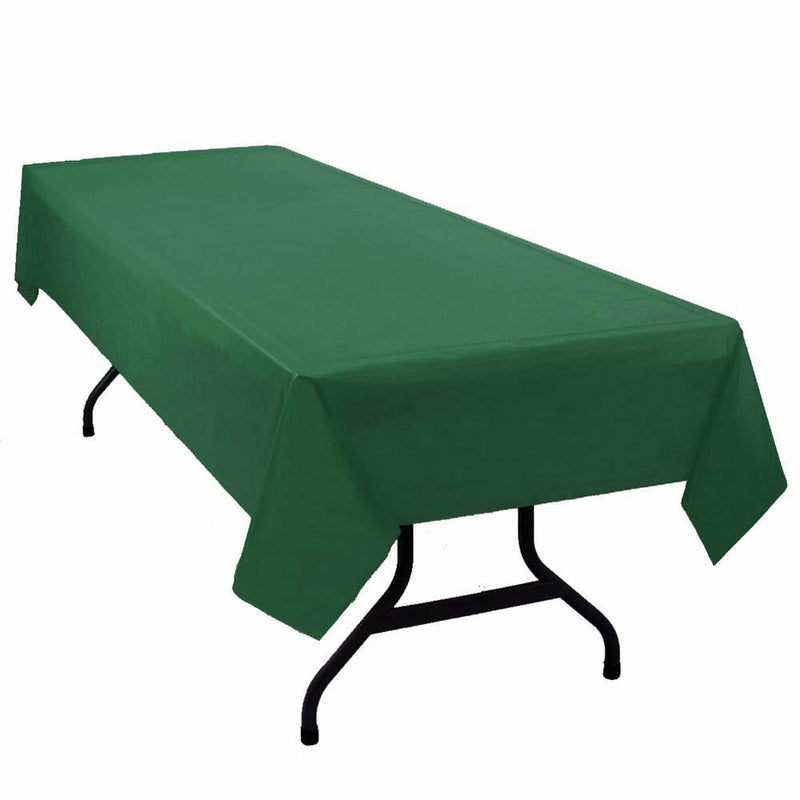 "Table Mate Solids Hunter Green Plastic Table Cover 54""X 108"""