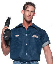 Underwraps Costumes Adult Mechanic Shirt